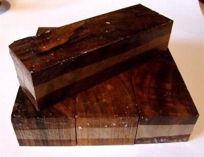 10 Nussbaum (Messergriffblock Nussbaum amerikanisch x-cut 8-10x4x3cm Messergriff Drechse T181)