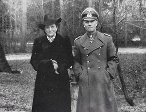 WWII B&W Photo German Field Marshal Erwin Rommel with Wife World War Two / 2282