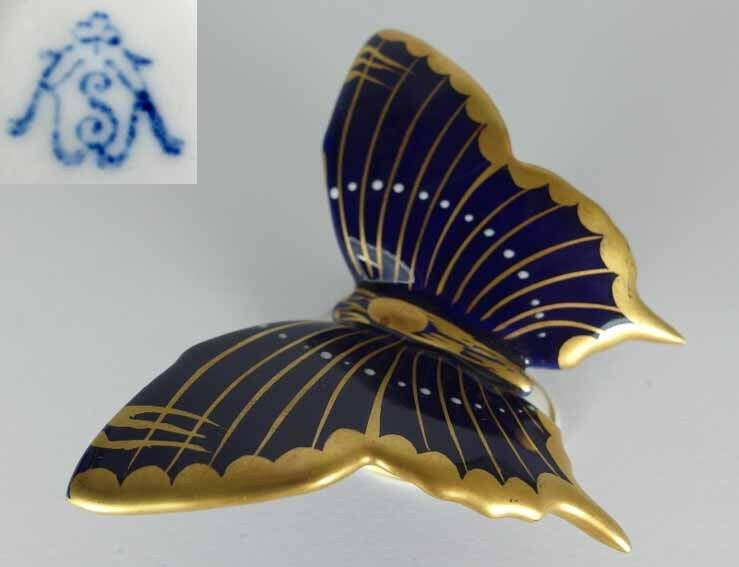 Butterfly, Porcelain, Rudolf Chamberlain Volkstedt