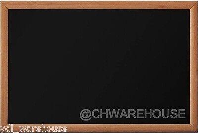 18 X 24 Woodwell Magnetic Black Chalk Board Dark Frame Reinforced Backing
