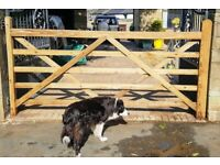9FT Timber Field Gate