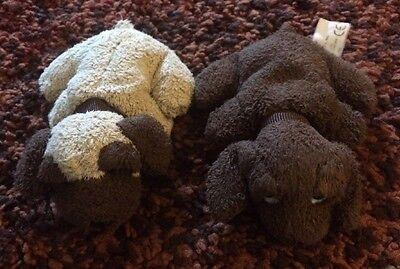 """2 Russ Very Tiny Plush Dogs 4"""""""