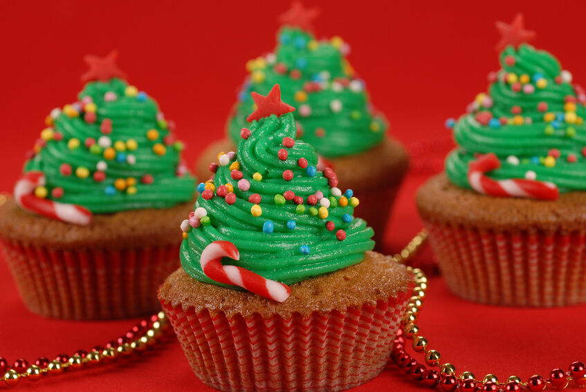 cooking for the holidays christmas tree cupcakes ebay. Black Bedroom Furniture Sets. Home Design Ideas