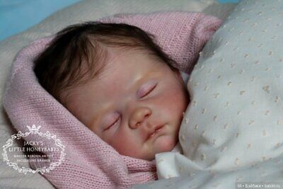 New Vinyl Reborn Baby Doll Cradle KIT, Lydia by Linda Murray COA Baby Cradle Kit