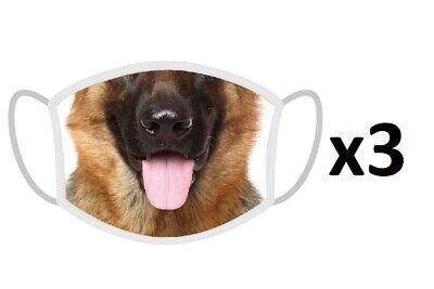 x3 FERA Schutzmaske Deutscher Schäferhund