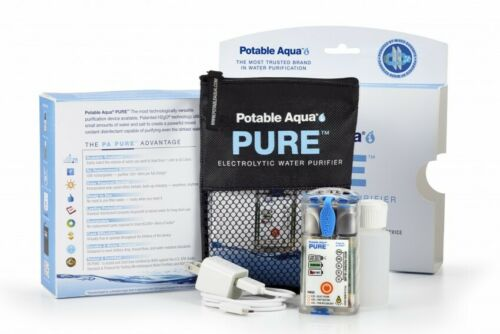 NEW Potable Aqua PURE Electrolytic Water Purifier - Solar Powered & Ultralight