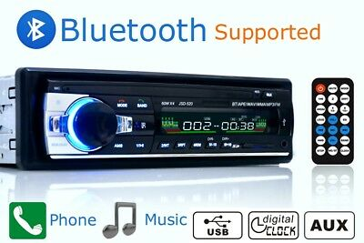 Car Stereo Radio 1DIN 12V FM In Dash MP3 SD/USB AUX Bluetooth Handsfree Headunit