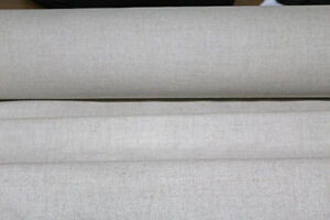 plain natural linen union sold by the metre
