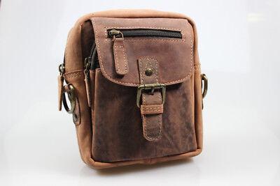 Bay Leder Tasche (Premium Leder Gürteltasche Umhängetasche von Bayern Bag Hunter Collection 2 in 1)