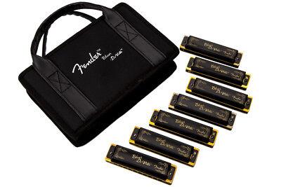 Fender Blues Deville Harmonica Pack - 7-teilig inkl. Bag