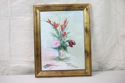 Lilies Oil Painting - Oil Painting Still Life Floral Impressionist Orange Lilies Pink Purple Flowers