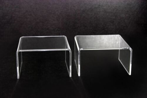 2x Clear Acrylic Riser Stand Shelf window counter display Jewelry Gifts Showcase