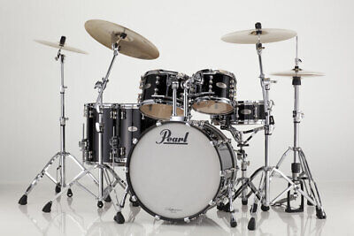 Pearl Reference RF924XSP/C103 Shell Pack, Piano Black Drum Set