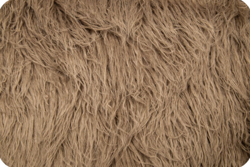 Taupe Curly Alpaca Faux Fur Photo Prop Newborn Nest 18 x 20 Inches Photography