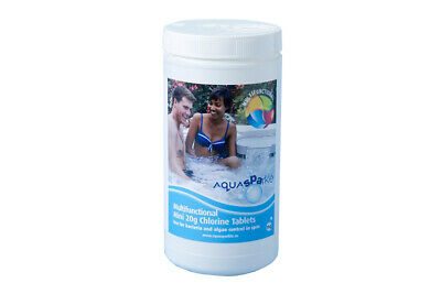 Aquasparkle 1kg Multifuncional Cloro 20g Tabletas Para Hot Tubo & Spas