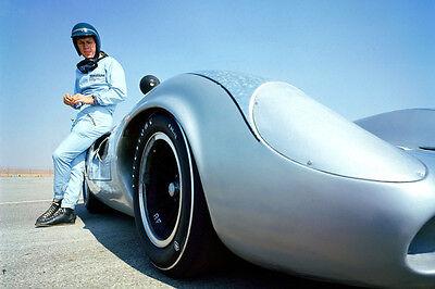STEVE MCQUEEN RARE RACING CAR 24X36 POSTER PRINT