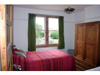 Large sunny double bedroom in semi-detached house for short term let
