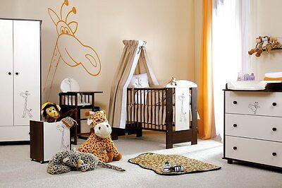 Babybett Kinderbett , Wickelkommode und Zubehör  Safari