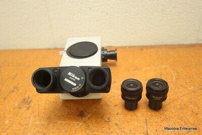 Nikon Optiphot Binocular Microscope Head 2 Cfw 10x Ocular Eyepiece