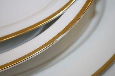 Noritake Platters Lot Goldray Vegetable Bowl White Gold Trim Verge - $32.00