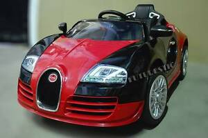 Big Bugatti Veyron Electric 12V Ride On Cars Kids 3 Speed Remote Silverwater Auburn Area Preview