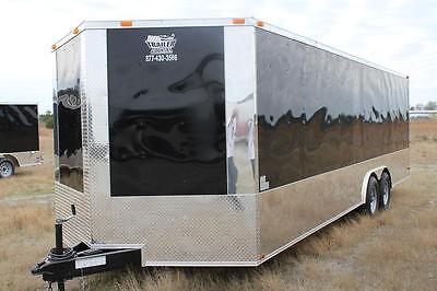 New 2021 8.5 X 24 8.5x24 Enclosed Race Cargo Car Hauler Trailer - Loaded