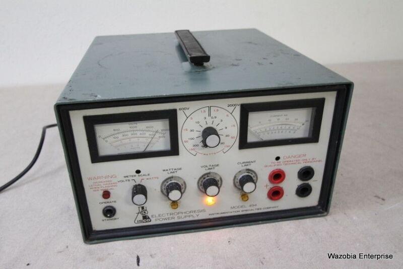 ISCO MODEL 494  ELECTROPHORESIS POWER SUPPLY