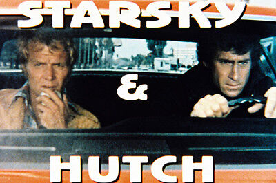 STARSKY AND HUTCH IN CAR WITH LOGO COLOR 24X36 POSTER