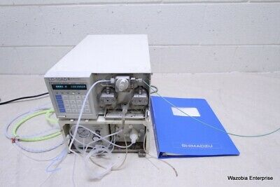 Shimadzu Lc-10ad Liquid Chromatography Solvent Delivery Pump With Manual