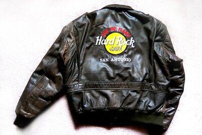 HARD ROCK Cafe San Antonio Leather Jacket Size Medium