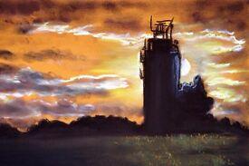 "Painting ""Sunset"" beautiful view"