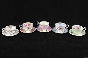 Five Cups & Saucers