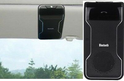 Hands-free Wireless Bluetooth Speakerphone Car Kit Sun Visor for all cellphones