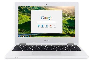 Google Chrome Laptop Computer White Acer Chromebook Cb3 131 C3sz 11 6 Inch