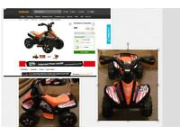 Brand New Unboxed Halfords Roadsterz Quad Bike, Black, Currently Selling for £80 in Halfords