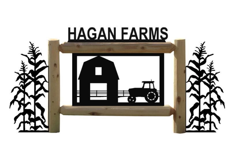 FARM TRACTORS AND BARN