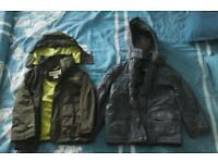 2 x Boy's coats ( 5-6 years of age )