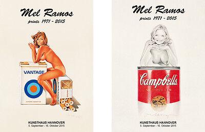 Mel Ramos, 2x original Ausstellungsplakate - 2015 - Tobacco Red & Suzy Soup NEU