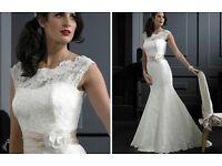 "Wedding Dress - Nicola Anne ""Dolce"" vintage lace bridal gown"
