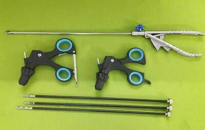 Laparoscopic Grasping Maryland Forceps Curved Needle Holder 6 Pc Set Instruments