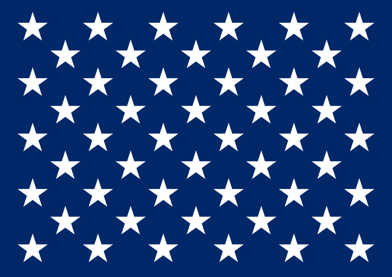 Us Union Jack 17 IN. x 20 IN. or jack of the United States of America