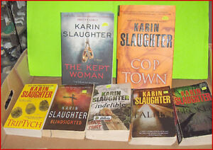 Lot of Karin Slaughter Mystery Books