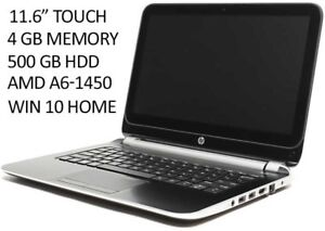 "HP laptop 11.6"" TOUCH 500GB 4GB AMD-A6. WIN 10. LIKE NEW"