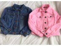 2x denim jackets ages 5-6