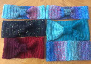 For Relay For Life - Homemade Crochet Cold Weather Headbands