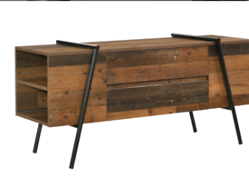 Rustic wooden TV stand. Beautiful, unusual, brand new