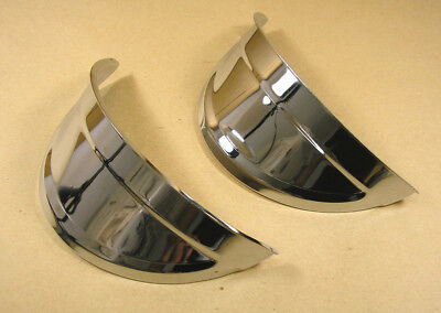 1940 57 Pontiac All Accessory Headlamp Headlight Visors Pair C5005