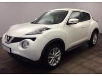 2014 WHITE NISSAN JUKE 1.5 DCI ACENTA DIESEL HATCHBACK CAR FINANCE FR £29 PW