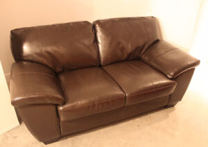 Divan en vrai cuir | Leather couch (2 places)