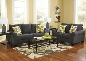 Nolana - Charcoal Sofa & Love Seat Set - BRAND NEW $1735